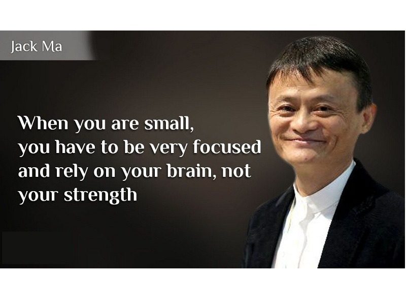 When you are small, you have to be very focused and rely on your brain, not your strength.