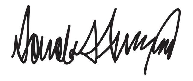 Chữ ký của Donald Trump