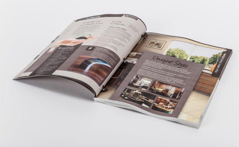 mẫu in catalogue giới thiệu không gian bếp đẹp