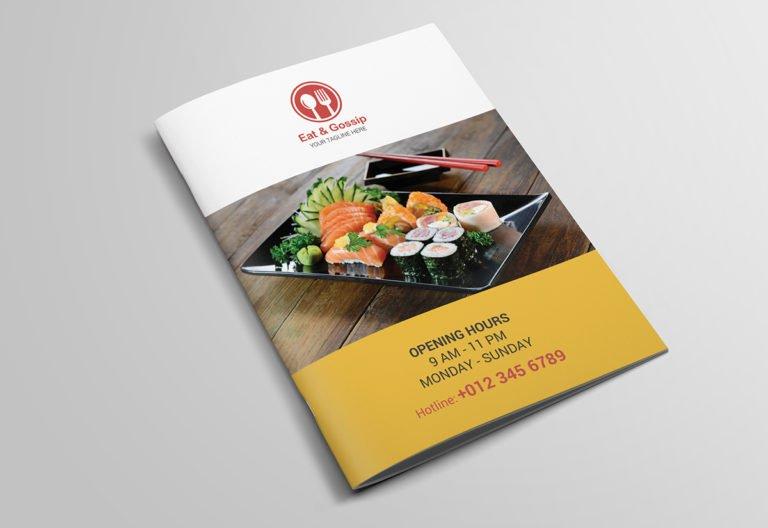 mẫu in catalogue giới thiệu món ăn nhật bản