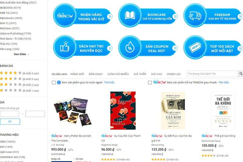 web bán sách online uy tín