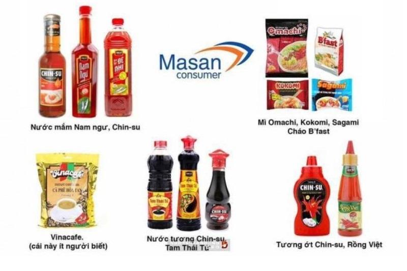 Các mặt hàng tiêu dùng của Masan ở Việt Nam