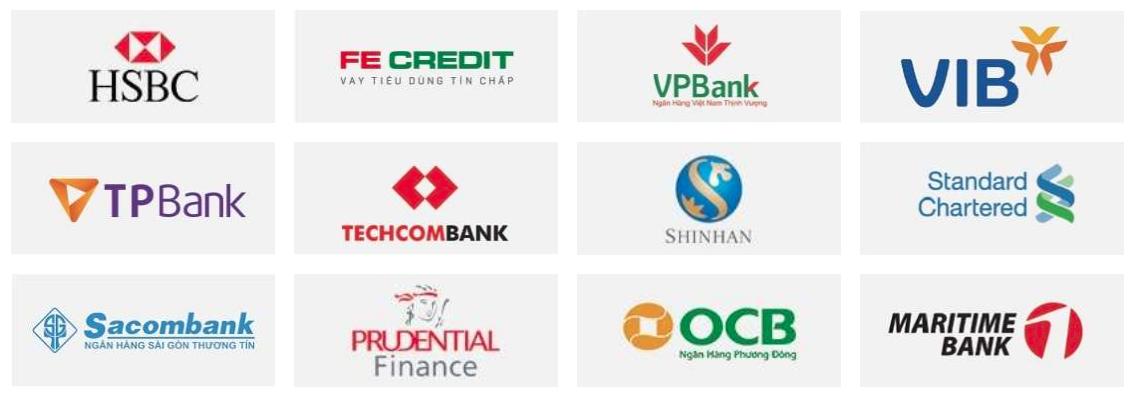 Đối tác chiến lược của vaytienonline là những công ty tài chính uy tín và các ngân hàng lớn tại Việt Nam