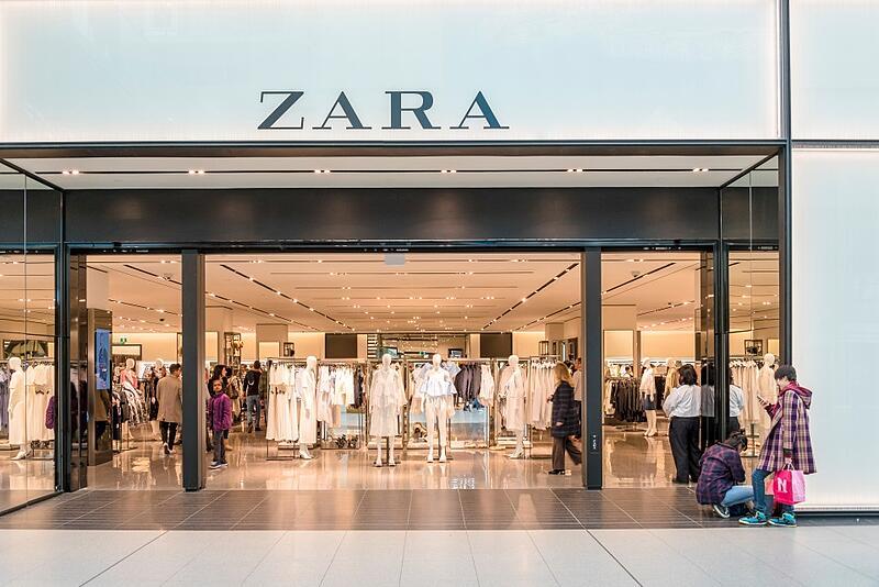 Cửa hàng thời trang zara