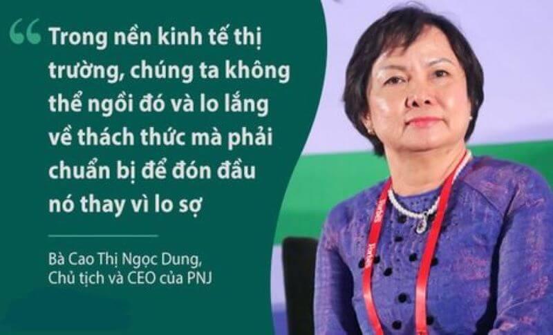 Chân dung bà Cao Thị Ngọc Dung